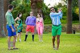 Golfing in Bermuda Shorts I print