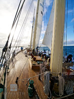afternoon, departure, sail, ship, setting, sun, bermuda, ocean, atlantic, north, canada, sloop, foundation