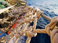 bow, knot, ship, sail, closeup, knot, rope, atlantic, ocean, sloop, foundation