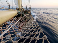 bow, knot, ship, sail, closeup, knot, rope, atlantic, ocean, evening, light, sloop, foundation