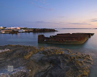 spanish, point, pembroke, cruise, ship, boat, wreck, sunset