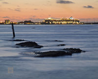 spanish, point, pembroke, cruise, ship, boat, dockyard, heritage, wharf, sunset