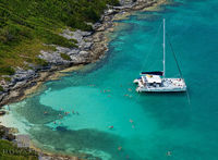 Rising, Son, Catamaran, sail, boat, hawkins, island, great, sound
