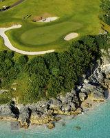 golf, 16th, hole, port, royal, course, southampton