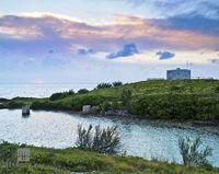 martello, tower, ferry, reach, st. george's, evening, light
