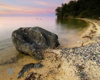 Glass Beach Sunset
