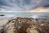 rocks, wave, crashing, spittal, pond, smiths, shoreline