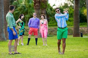Golfing in Bermuda Shorts I