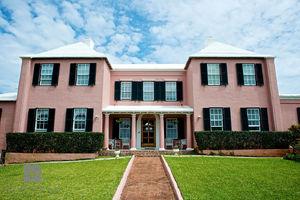 Traditional Pink Bermuda Home