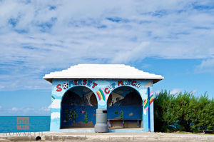 Colourful Painted Bus Stop