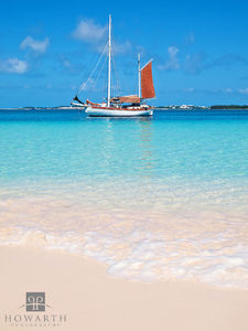boat, anchor, beach, swim, sand, water, castle, island, st.georges
