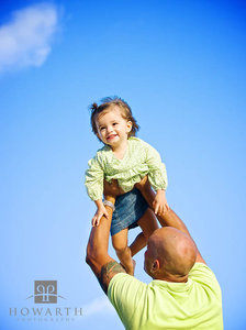 father, daughter, young, smiling,