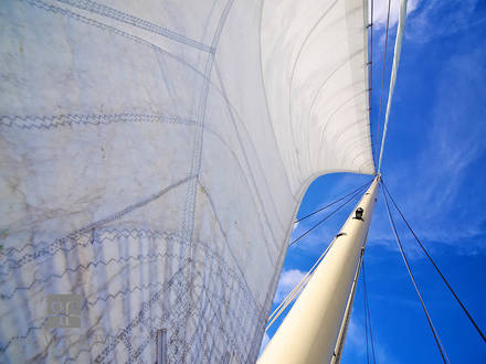 full, sails, atlantic, ocean, journey, north, blue, skies, , sloop, foundation