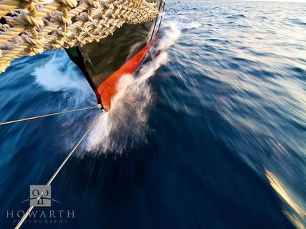 bow, wave, atlantic, ocean, full, sail, calm, seas, atlantic, sloop, foundation