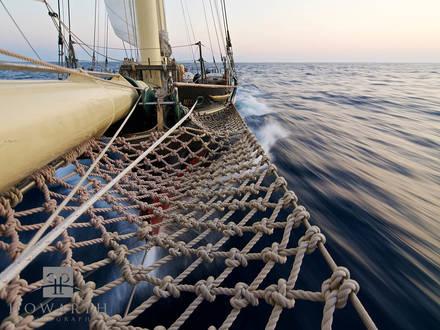 bow, knot, ship, sail, closeup, knot, rope, atlantic, ocean, evening, light, sloop, foundation