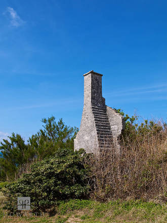 chimney, north, shore, ruin,