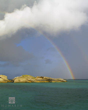 rainbow, pear, rocks, coopers, island, rain, storm