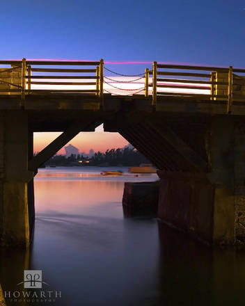long, exposure, bridge, somerset, twilight