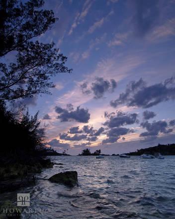 Elys, Silhouette, harbour, sunset, purple, pink, somerset