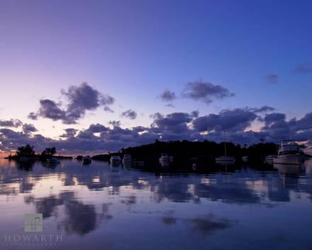 elys, harbour, reflection, somerset, purple, twilight, silhouette