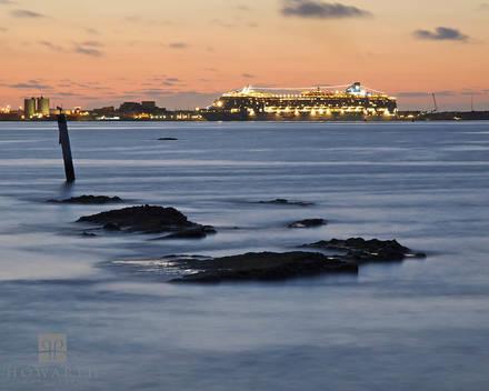 spanish, point, pembroke, cruise, ship, boat, dockyard, heritage, wharf, sunset