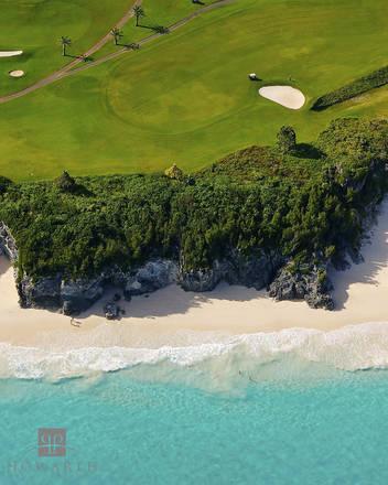 mid, ocean, golf, course, hamilton, parish, scenic, beach, water