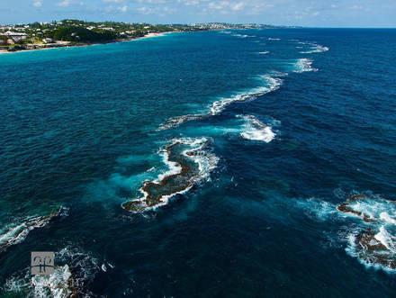barrier, reef, south, shore, devonshire, coast, offshore
