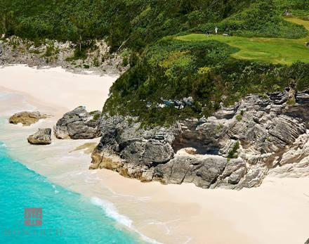 mid, ocean, golf, course, hamilton, parish, hole, water
