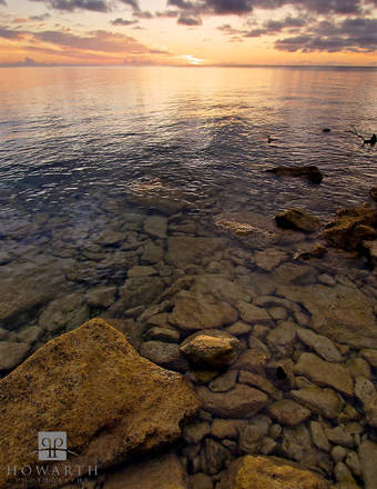 golden, sunset, west, end, ireland, island, somerset, vibrant, light