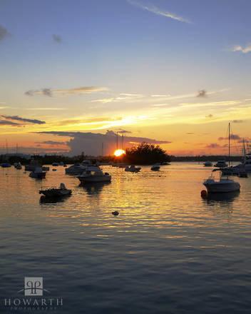 jews, bay, southampton, sunset, boat, anchorage