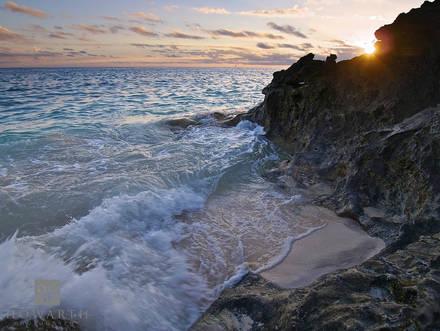 sunset, beach, rocks, whale, bay, sun
