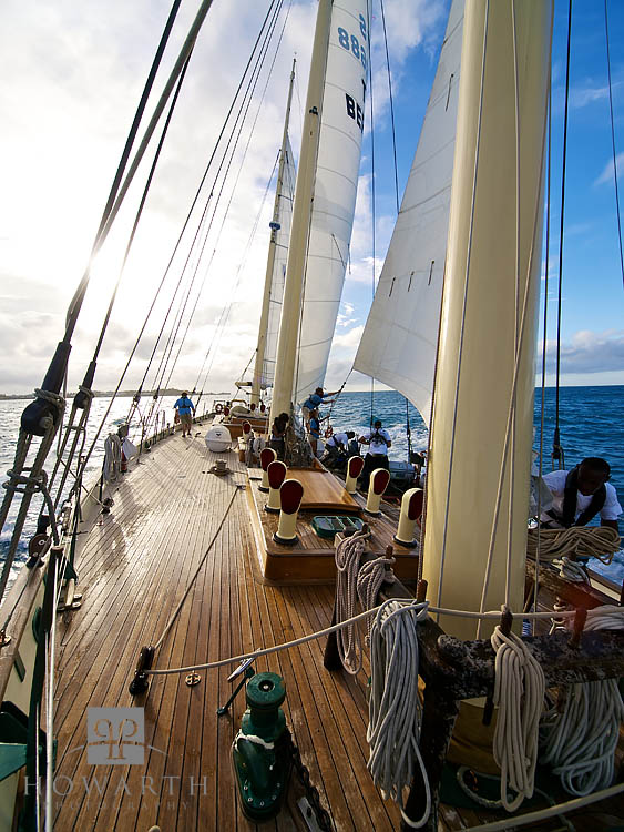 afternoon, departure, sail, ship, setting, sun, bermuda, ocean, atlantic, north, canada, sloop, foundation, photo