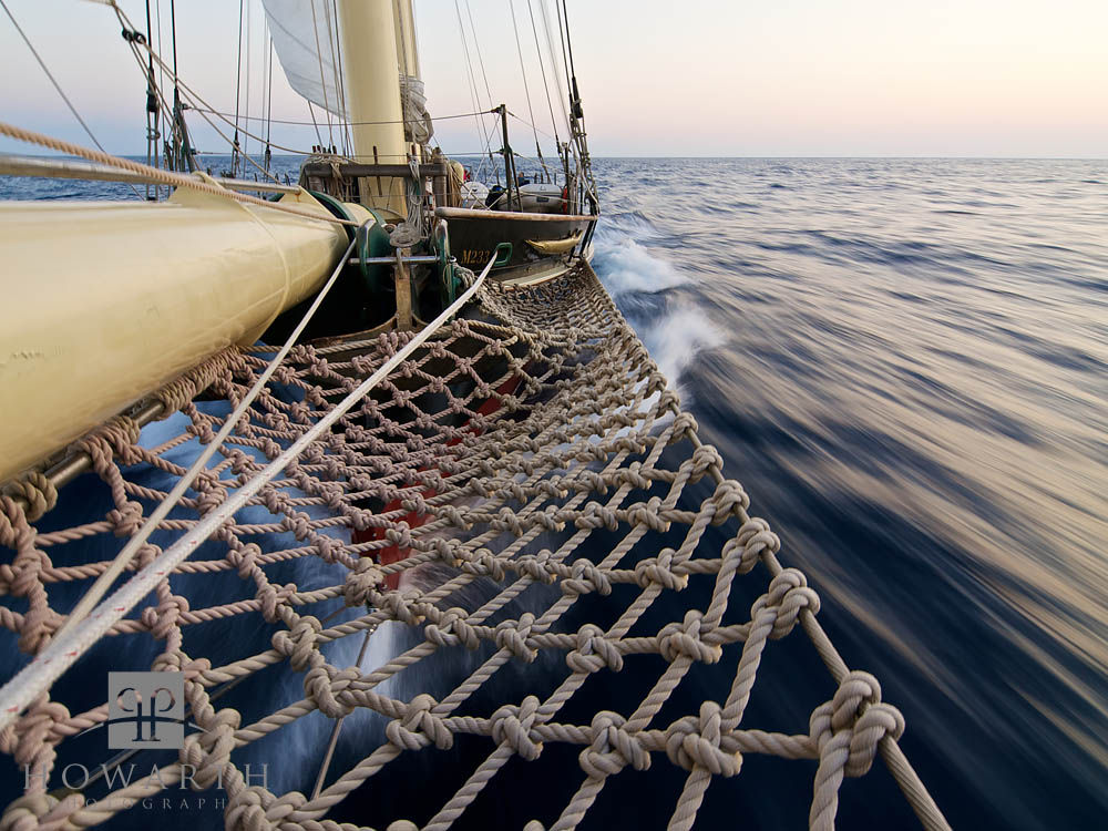 bow, knot, ship, sail, closeup, knot, rope, atlantic, ocean, evening, light, sloop, foundation, photo