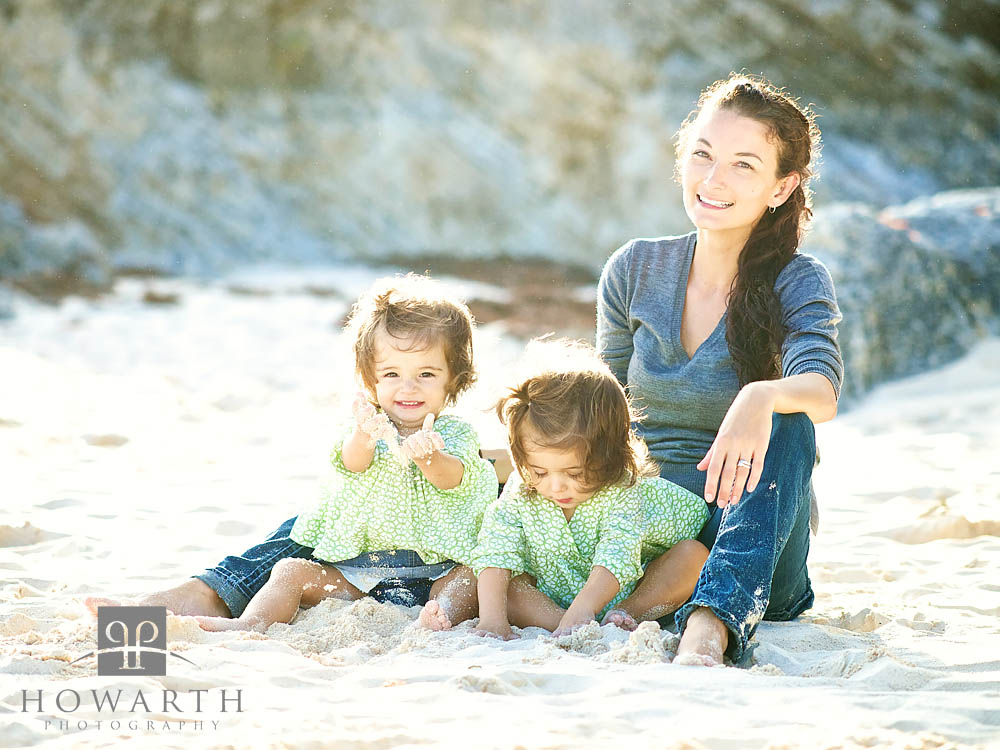 Mother, twin, daughter, young, , photo