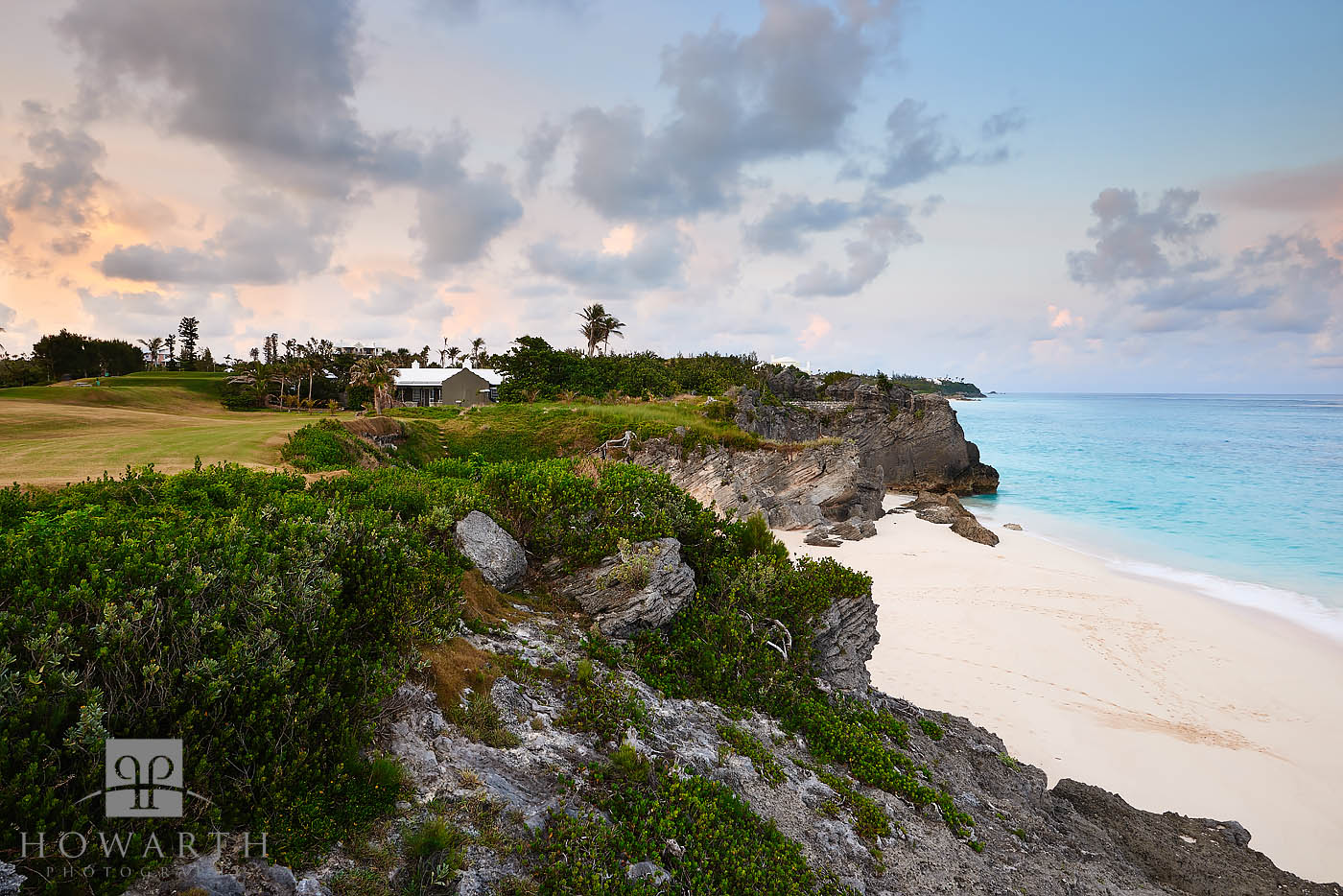 mid ocean, golf, course, evening, view, south, shore, photo