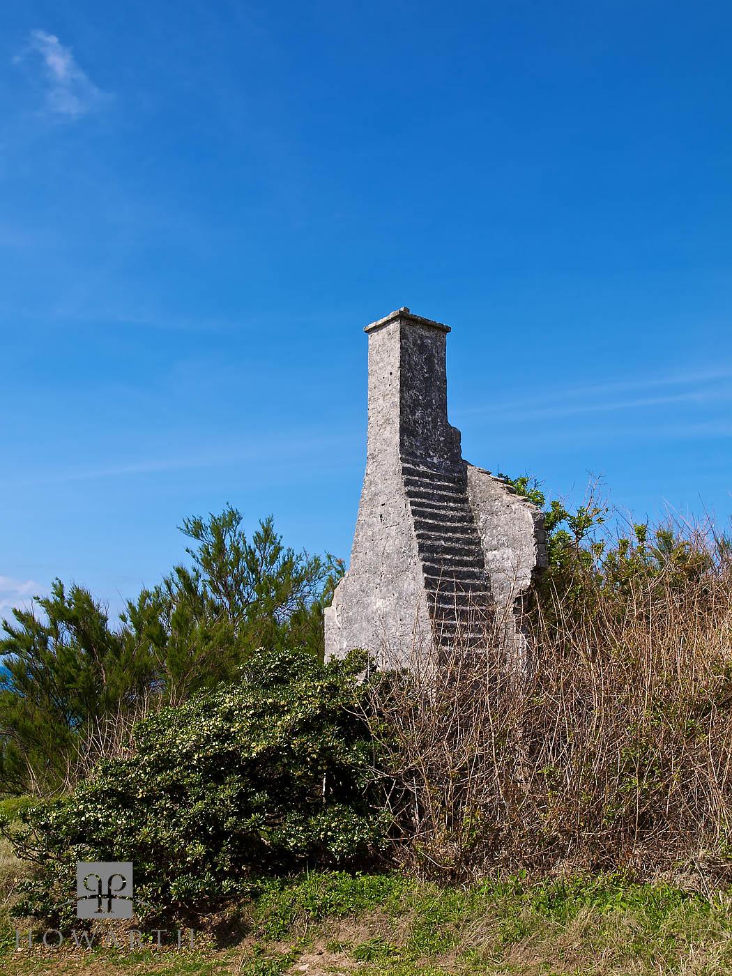 chimney, north, shore, ruin, , photo