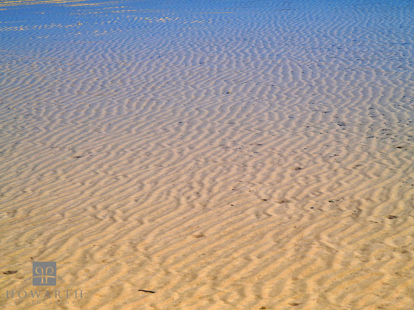 ripples, sand, beach, water, low tide, photo
