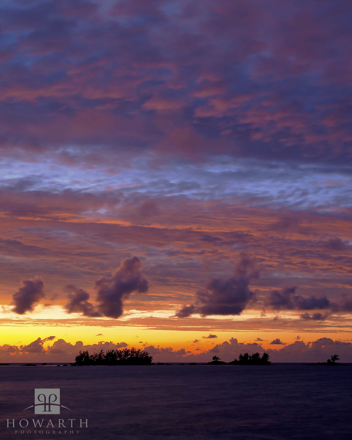 kings, point, somerset, mangrove, bay, light, fades, horizon, pink, purple, sunset, sky, silhouette, photo