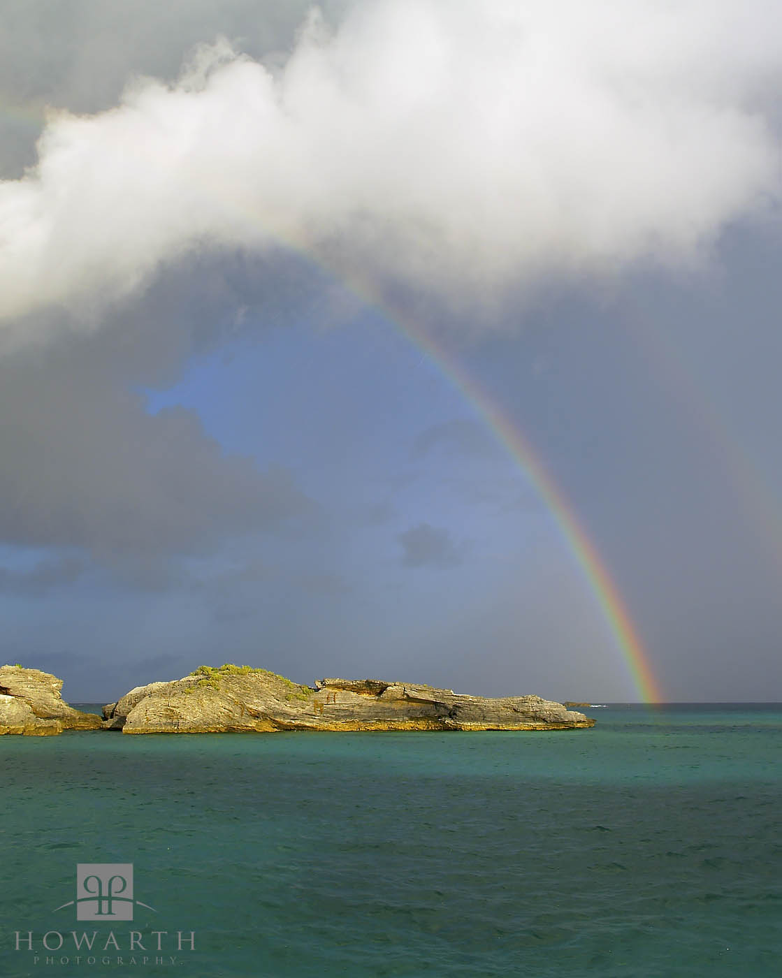 rainbow, pear, rocks, coopers, island, rain, storm, photo