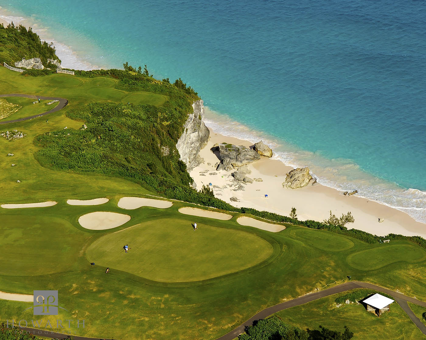 mid, ocean, golf, course, hamilton, parish, scenic, photo