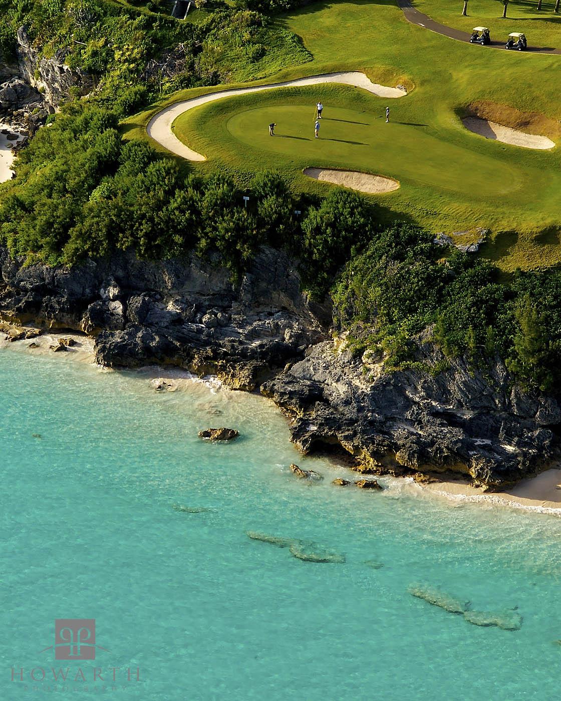 16th, port, royal, golf, course, southampton, photo