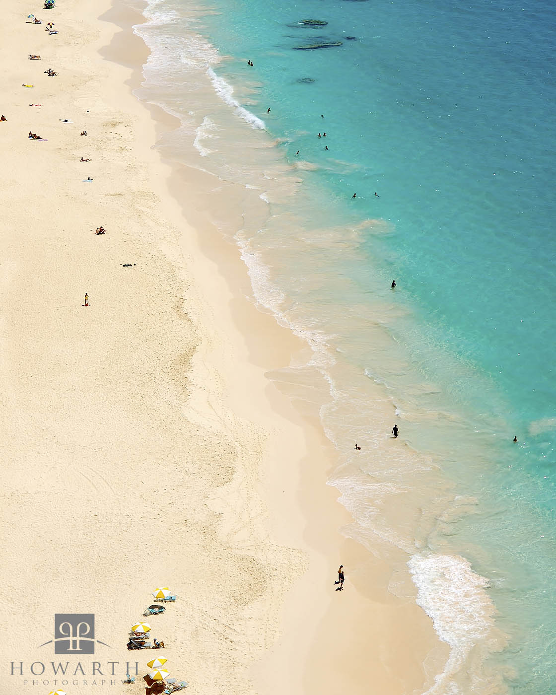 A small section of Elbow Beach