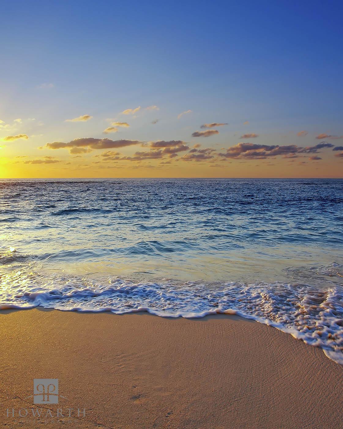 warwick, sunrise, beach, long, bay, photo